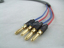Professional banana plugs audio line Speaker cable power amplifier horn line Around the line 2M 6.4ft(China (Mainland))