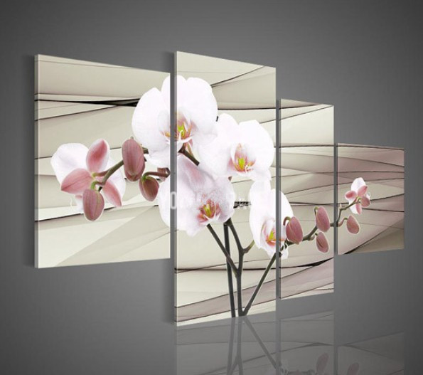 handpainted 4 piece white contemporary decorative oi
