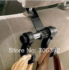 2pcs/lot Black PP Back Of Chair Multi-Purpose Car Hanger Hook Auto Coat Hook Car Accessories