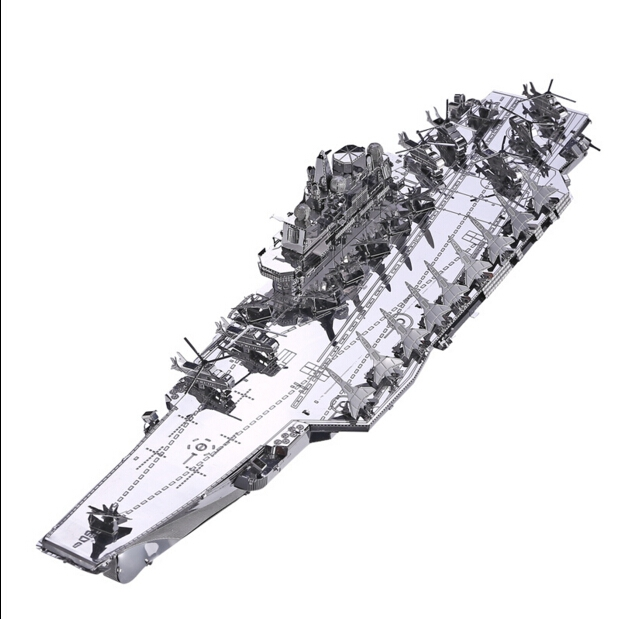 DIY 3D Metal Puzzle Model Toys Liaoning aircraft carrier metal assembly model toys For Children/Adult Cartoon(China (Mainland))