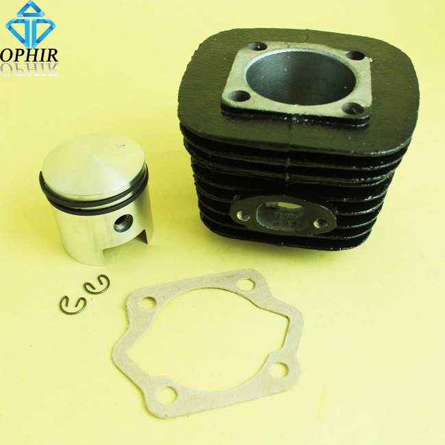 OPHIR 70CC 80CC Black Cylinder Piston Kit with Cylinder Bottom Gasket for 2 Stroke Motorized Bicycle Engine_MRA5B+A7+A12(80CC)(China (Mainland))