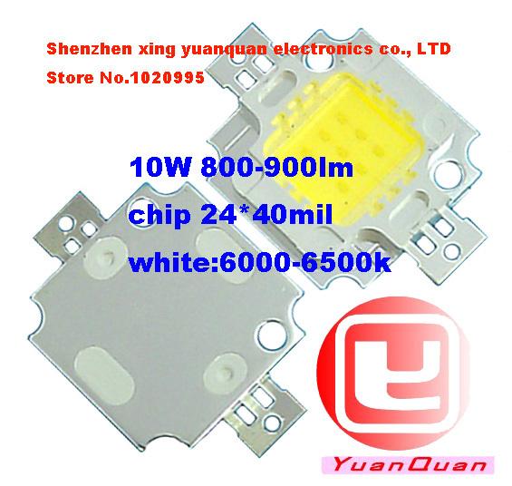 10PCS/LOT 10W LED Integrated High power LED chip White/Warm white 900mA 9.0-12.0V 900LM 24*40mil Taiwan Huga Chips(China (Mainland))