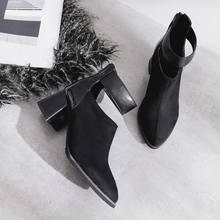 Haoshen ve Kız Kış Ayak Bileği Yılan Derisi Baskı Botları Pu Deri Kadın Çizmeler Zip Toka Ayakkabı Yuvarlak Ayak Kadın Retro ayakkabı Boyutu 32-48(China)
