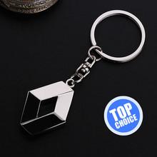3D Silver Metal Renault Key Holder For Renault Clio 2 Megane 3 Sandero Scenic 3 Car Logo Keychain Key Rings Emblem Free Shipping