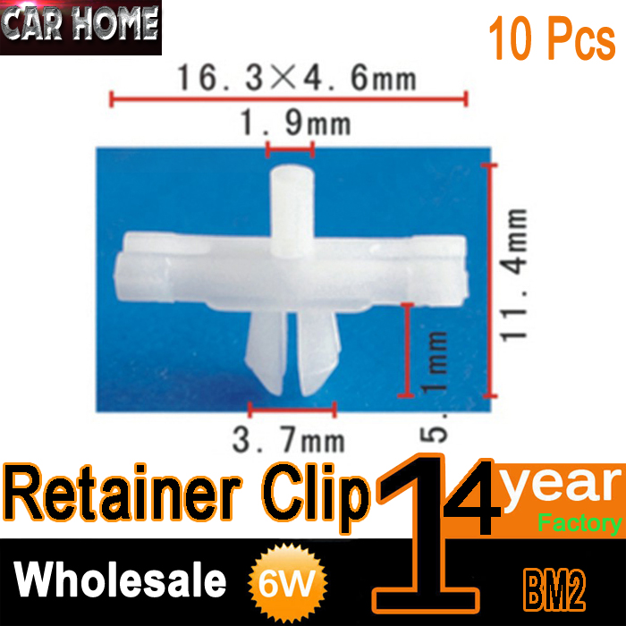10pcs OE Nylon Door Panel Clip Retainers Clips Body Side Moulding Trim Retainer Clips BMW