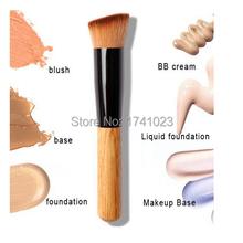 Função de cabo de madeira pincel pincéis de maquiagem fundação ferramentas de maquiagem Comestics