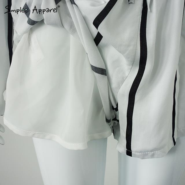 2016 новый стиль популярные полосатые комбинезоны с пояса V шеи длинные рукава короткие Женщины Комбинезон комбинезон сексуальный комбинезон