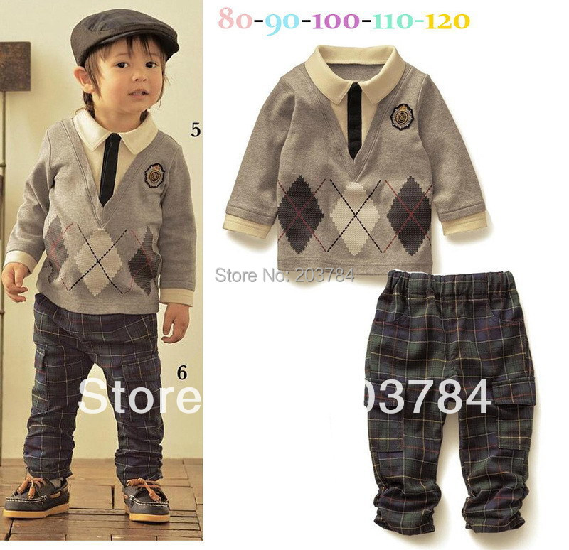 The spring and autumn period and the han edition in paragraph 2015 cotton boy children sports long suit of the Boy Children Set(China (Mainland))