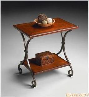 Marque authentique mode simple table basse en fer forg for Table basse fer forge bois