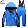 2016 New Brand Winter Children Skiing Suits Thermal Waterproof Windproof Snowboarding Sets Outdoor Sports Hooded Warmth