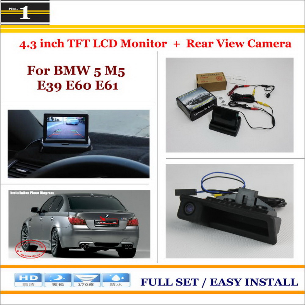Auto Rear View Camera Back Up + 4.3 LCD Monitor = 2 in 1 Parking Assistance System / For BMW 5 M5 E39 E60 E61<br><br>Aliexpress