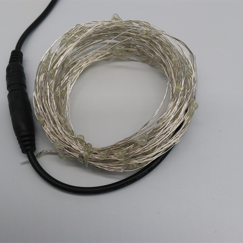 10M 100 LED Outdoor Christmas Fairy Lights Warm White Copper Wire LED Starry Light DC 12V LED String Light Decoration no adapter(China (Mainland))