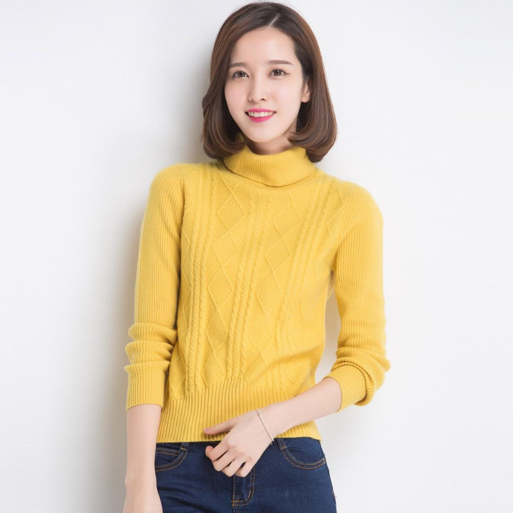 Casual Winter Turtleneck Pullover Sweater Women Clothing Long Sleeve Warm Pullovers Knitted Sweater For Women Jacket Y0313-155D