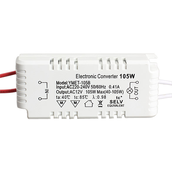 105W 12V Halogen LED Light Lamp Electronic Transformer Power Supply Driver Adapter(China (Mainland))