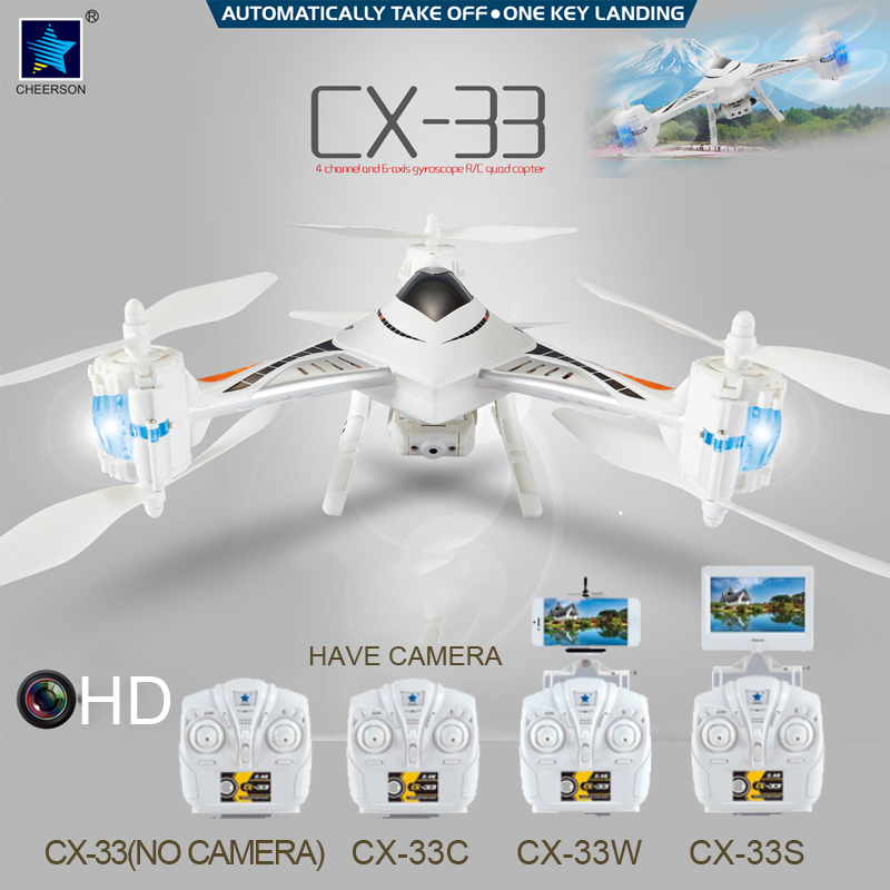 Rc Dron Helicopter Cheerson CX-33S With HD Camera 7.4V 360MAH Remote Control Radio Aircraft 2.4G 4CH 6 Axis Drone Quadcopter<br><br>Aliexpress