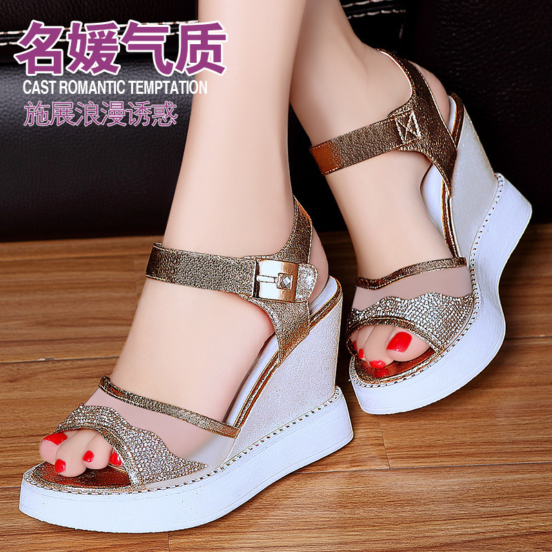 moolecole / Mo Lei Lei Kou 2015 spring and summer fashion sweet fish mouth sandals R-15(China (Mainland))
