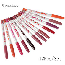 12Pcs/Lot Lip Liner 15CM 12 Colors/Set Waterproof Pencil Women's Professional Long Lasting Lipliner Lips Makeup Tools(China (Mainland))