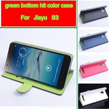 Jiayu S3 fashion hit color phone case Baiwei Brand luxury flip leather cover case wallet style with stand function and card slot