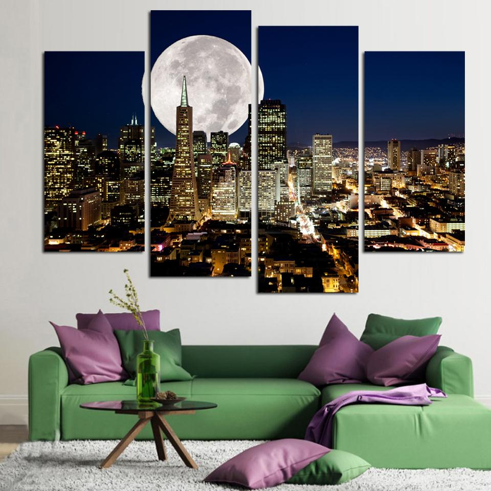 Online get cheap abstract painting cityscape  aliexpress.com ...