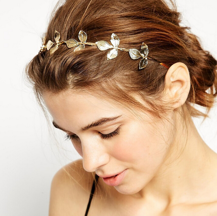 New fashion European style of the ancient Greek goddess hair headdress leaves head hoop hoop alloy(China (Mainland))