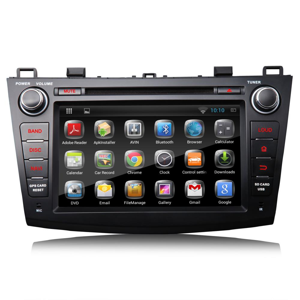 """8"""" Pure Android 4.2.2 OS Special Car DVD for Mazda 3 2010/2011/2012/2013/2014 with Screen Mirroring Support & Dual CanBus System(China (Mainland))"""
