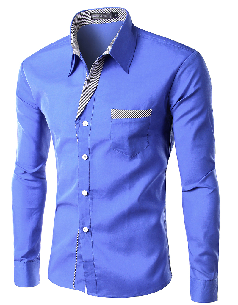 2015 new dress fashion quality long sleeve shirt men