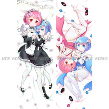 Re Zero Kawaii Little Rem Ram Pillow Cover Anime Case - Moe Works Store store