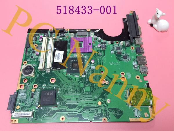 100% Original 518433-001 laptop motherboard for HP DV6 DV6-1000 series Integrated DDR2 GM45 PGA478MN Full Tested Free shipping(China (Mainland))