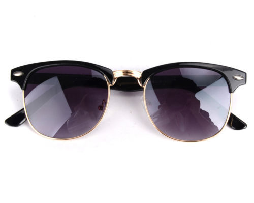 Гаджет  Black Gold Rim Wayfarer Clubmaster Sunglasses Retro 80