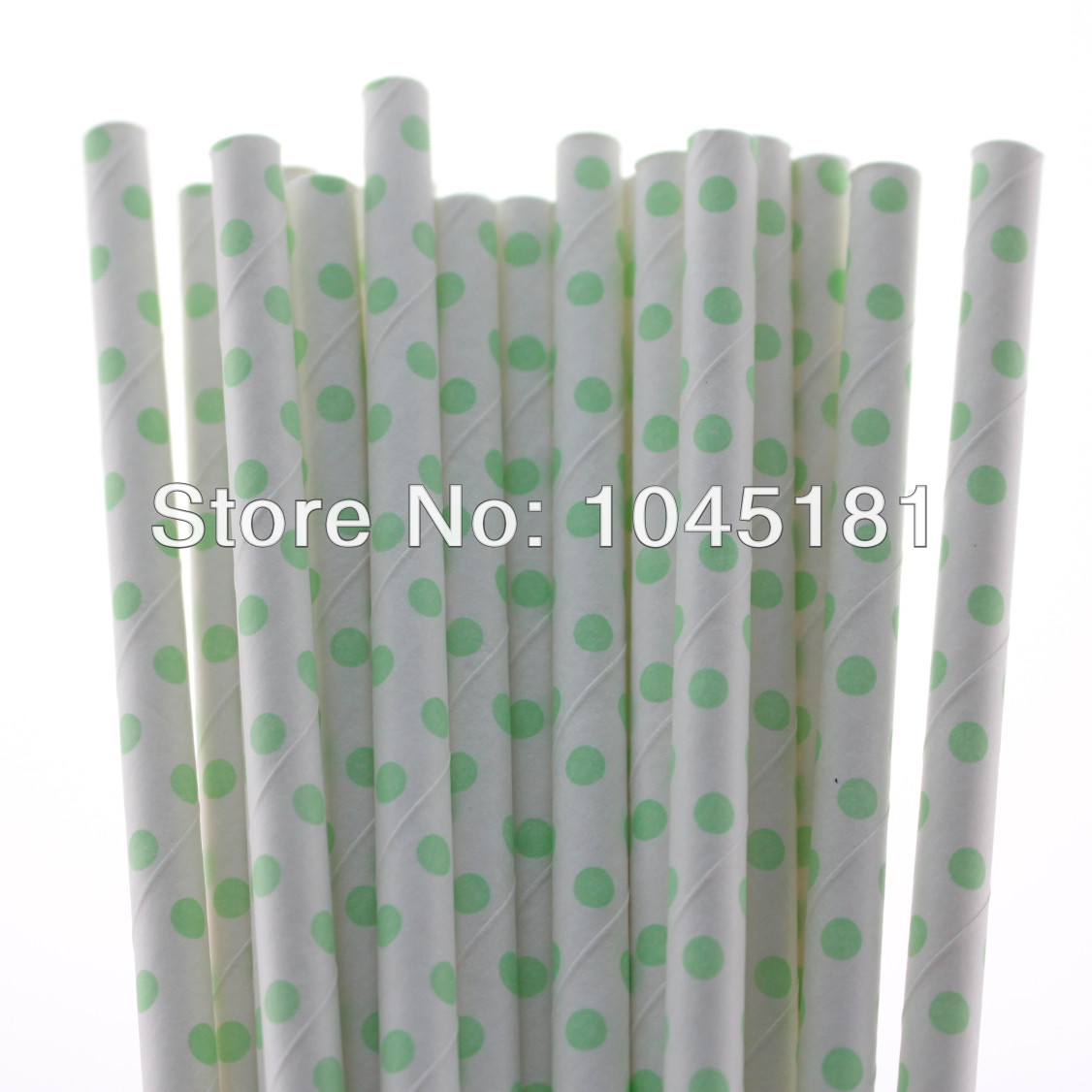 Free Shipping 19.7 cm Small Light Green Paper Drinking Straws for Wedding Thanksgiving Party(China (Mainland))