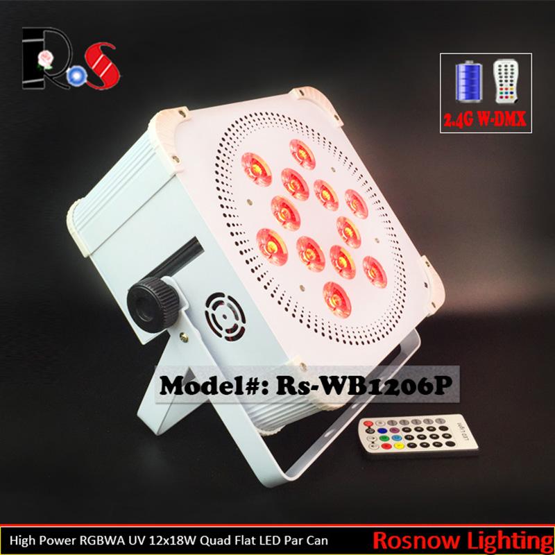 2pcs/lot 2.4G Wireless DMX 12x18W high brightness LED Slimline uplight Battery powered Par for wedding(China (Mainland))