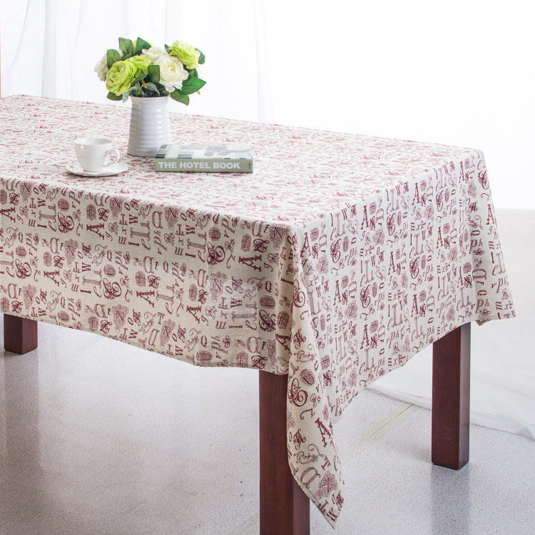 Linen Table Cloth European style Geometric Words Print High Quality Tablecloth Table Cover manteles para mesa Free Shipping(China (Mainland))