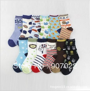 Free shipping,2013 new Children's Cotton  socks,20 colors, 12pairs/lot  suit for 4-6 years old  boy's cotton socks C015