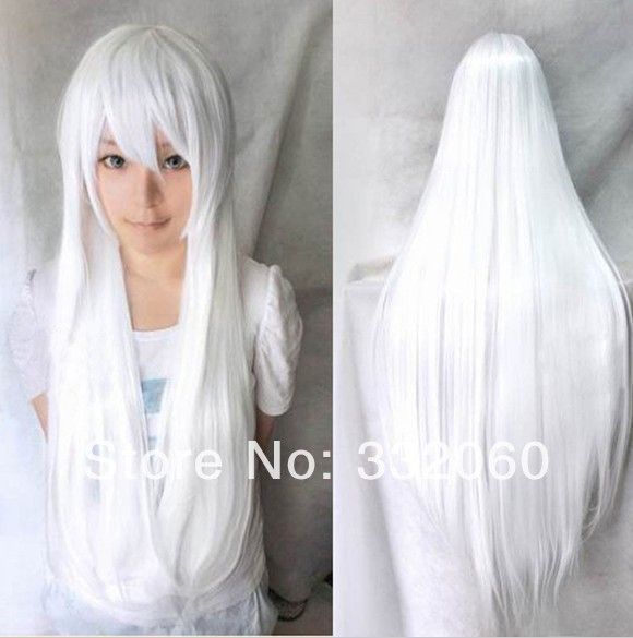 80cm women heat resistant Pink Brown Black Blue Red Yellow white Blonde green straight anime cosplay party wigs - kaiying hu's store