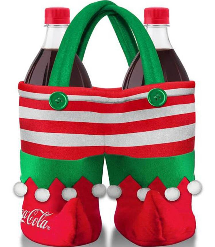 50pcs free by ems  Christmas Decoration Supplies Cola wine Elf Bag Christmas Creative Home Party Candy Bag Gift Bags