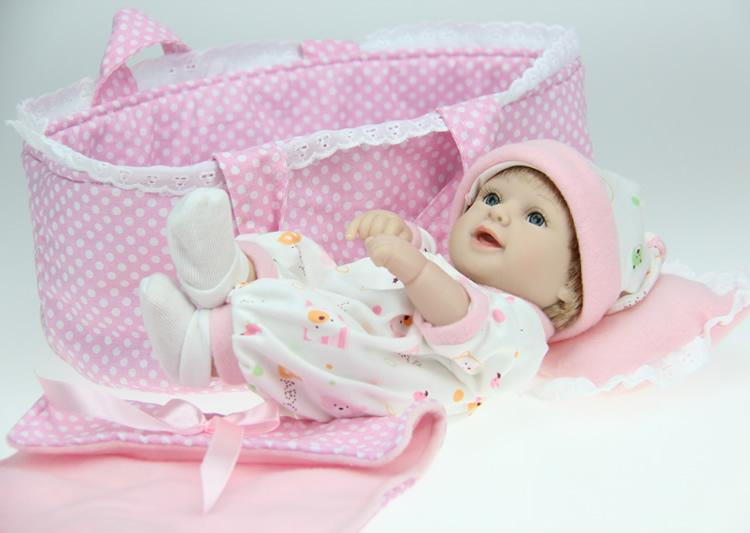 Free shipping fashion full vinyl silicone lifelike baby doll bebe reborn de silicone reborn baby dolls(China (Mainland))