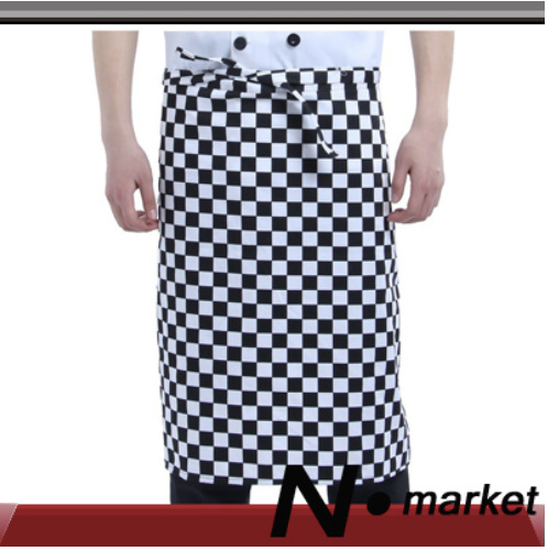 2014 Free Shipping Wholesale Chef Apron Fashion Check Cotton Polyester Kitchen Cooking Apron For Men Women(China (Mainland))