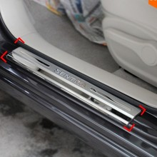 decorative escutcheon scuff plates door step cover thresholds for Nissan Sentra 2012 2013 2014 2015 car styling auto accessories(China (Mainland))