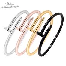 18K gold fashion bracelet 2015 Top trendy Jewelry Silver carter love bracelet for women Nail Screw Cuff Bangle free shipping(China (Mainland))