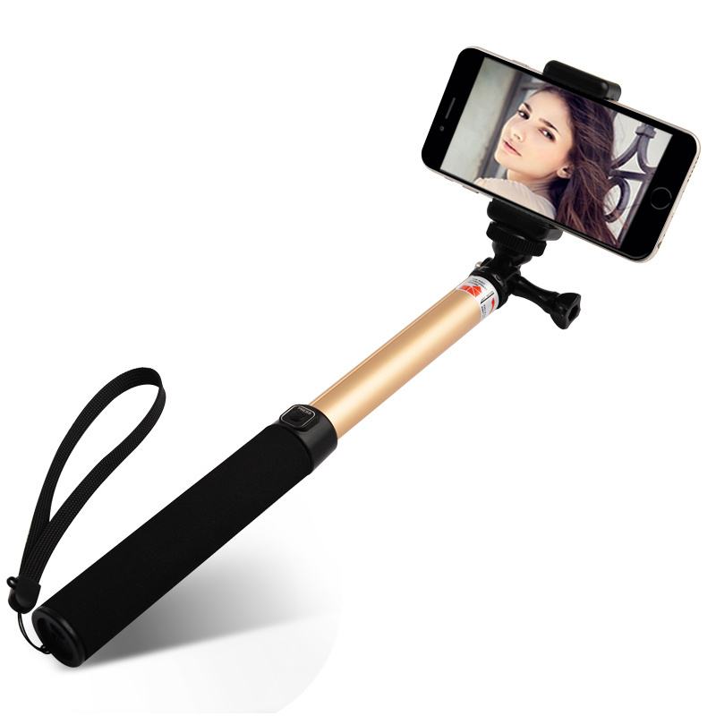 Hot! Extendable Handheld Selfie Monopod Wireless Buletooth Selfie Stick for iPhone 6 IOS 6.0 Smart Phone Selfie Stick Monopod<br><br>Aliexpress