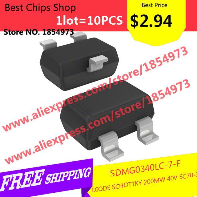 Free Shipping 10PCS=$2.94 Diy Kit Electronic Production SDMG0340LC-7-F DIODE SCHOTTKY 200MW 40V SC70-3 0340 SDMG0340(China (Mainland))