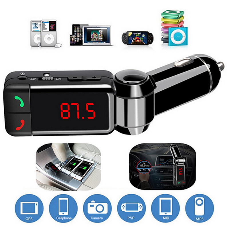 Bluetooth Car Kit FM Transmitter Hands Free Aux Mp3 Player Modulator with LED Display Portable Dual USB Charger Transmissor FM(China (Mainland))