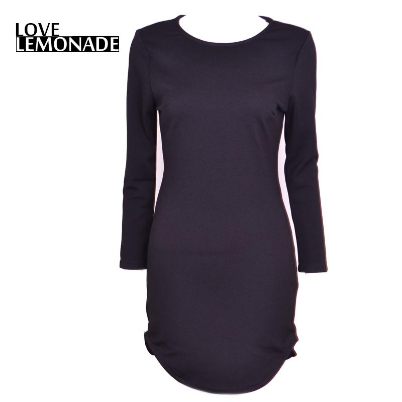 Love&Lemonade Stylish long-sleeved bodycon dress irregular edges. Party dress TB 6838