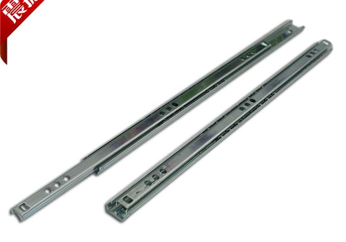 17 wide ball bearing slide rail two narrow-shaped guide rail drawer slide drawer sides can pull rail(China (Mainland))
