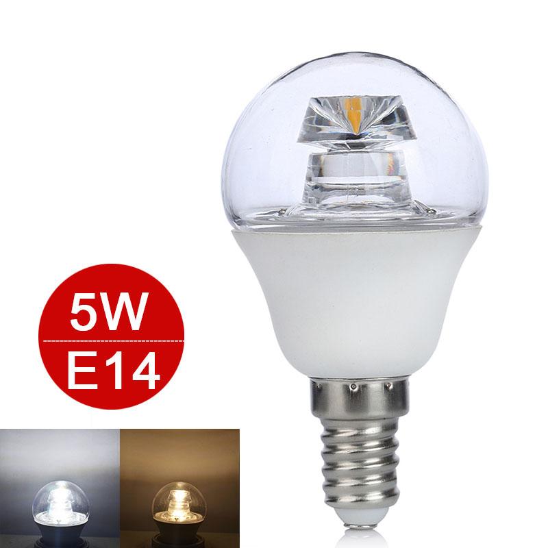 E14 LED Lamp 5W COB LED Light 110V 220V LED Bulb Clear Crystal LED Light Pipe Chandelier Lamps Home Lighting High Luminous G45(China (Mainland))