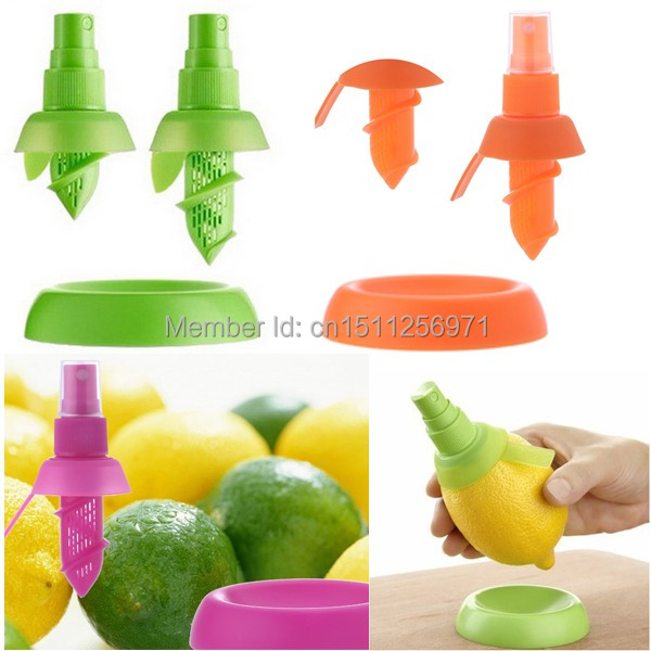 1set Free Shipping Home Kitchen Lemon Juice Sprayer Citrus Spray Mini Squeezer Hand Juicer UzFwXn