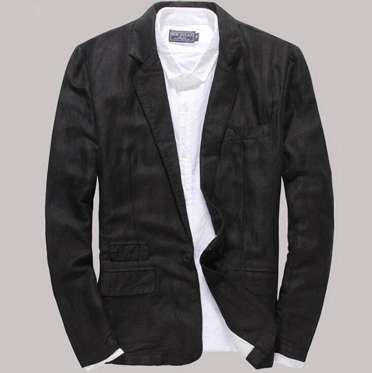 spring summer men's new jackets Men Korean single buckle Slim linen small suit, wholesale thin material Blazers,RASH GUARD coat(China (Mainland))