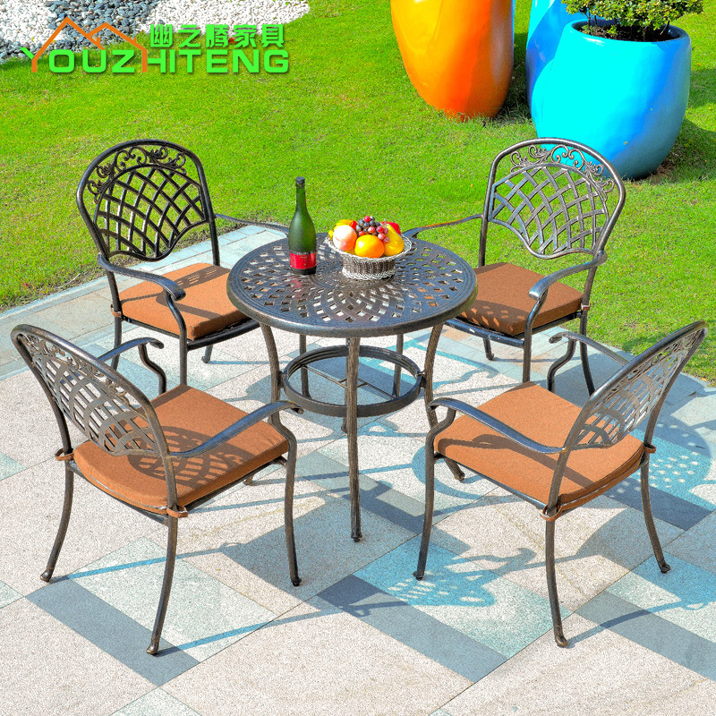 Teng secluded balcony furniture cast aluminum outdoor furniture outdoor patio furniture, wrought iron tables and chairs wicker c(China (Mainland))