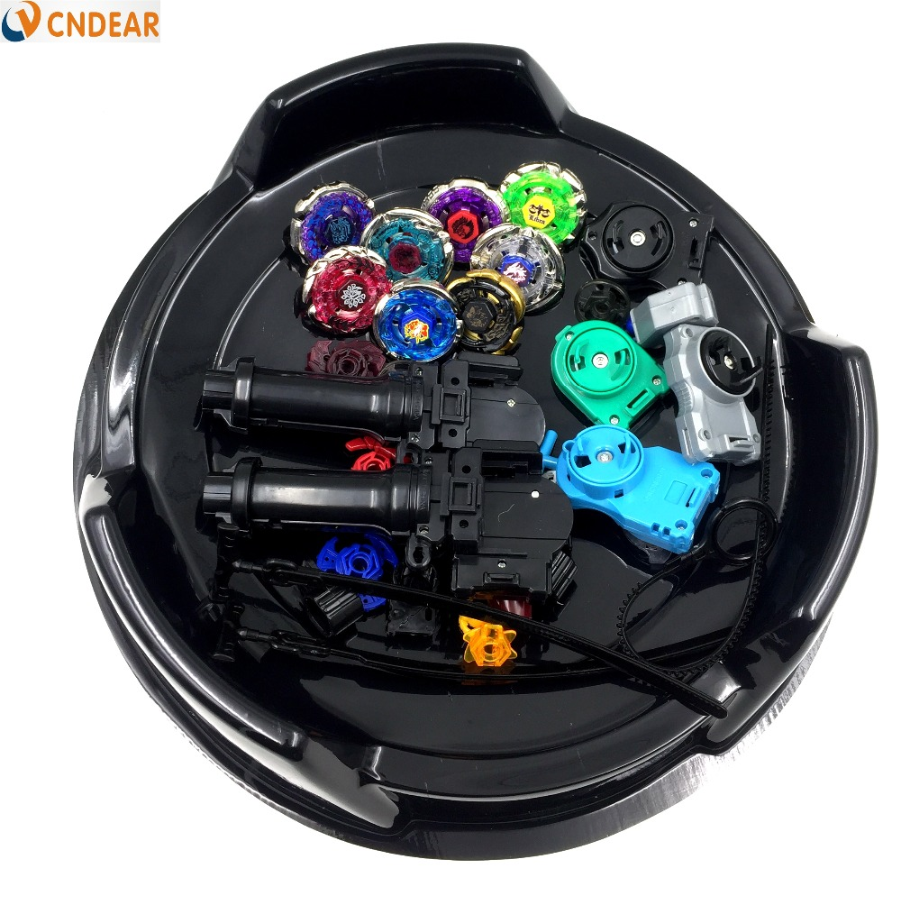 Beyblade Metal Fusion 4D Freies spinner top (8 beyblades + 4 launchers +2 grips + 2 arena stadiums + more than 20 spare parts )(China (Mainland))