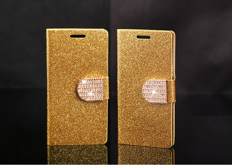 NEW Fashion Bling Shining Crystal Glitter Diamond Cover Flip Leather Wallet Phone Case For Apple iphone 5c iphone5c(China (Mainland))